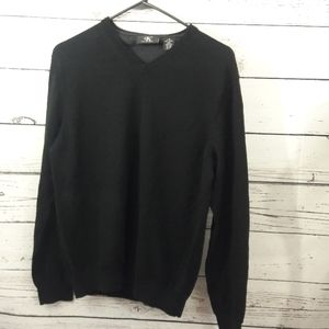 Ck Calvin Klein sz L 100% wool black sweater